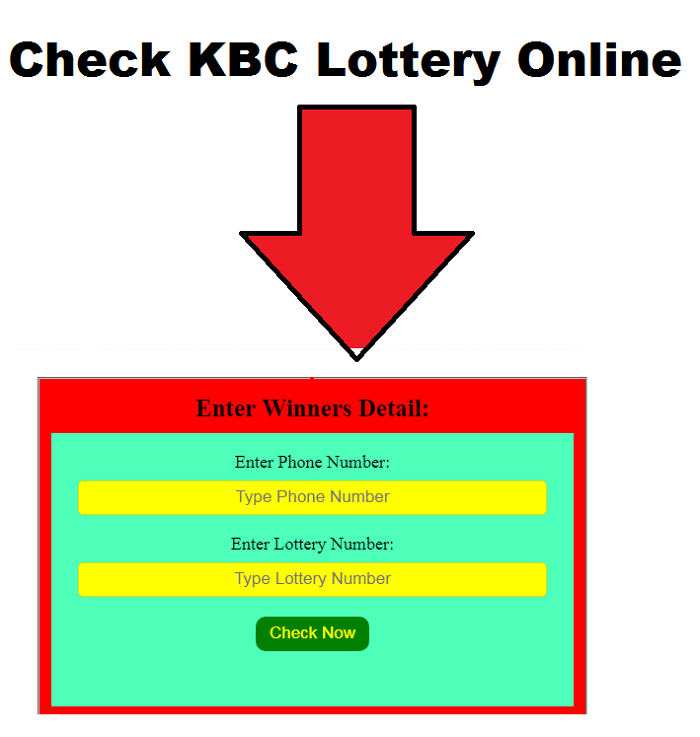Check KBC Lottery Online