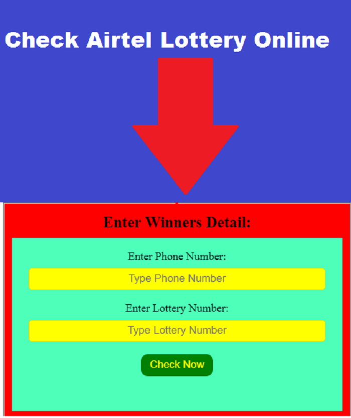 How to check Airtel lottery online